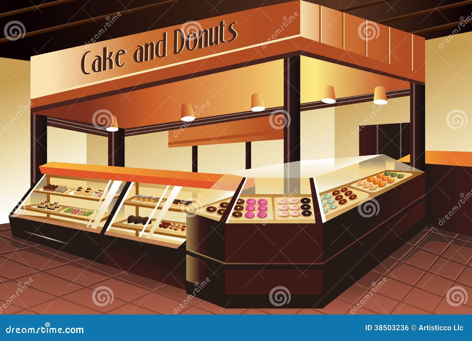 Colmado: sección de la torta y de los anillos de espuma
