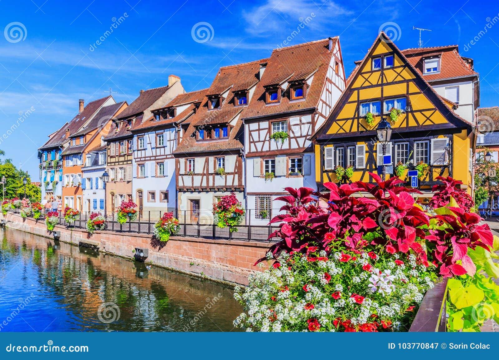 Elsass Karte Colmar.Colmar Alsace France Stock Image Image Of Evening 103770847