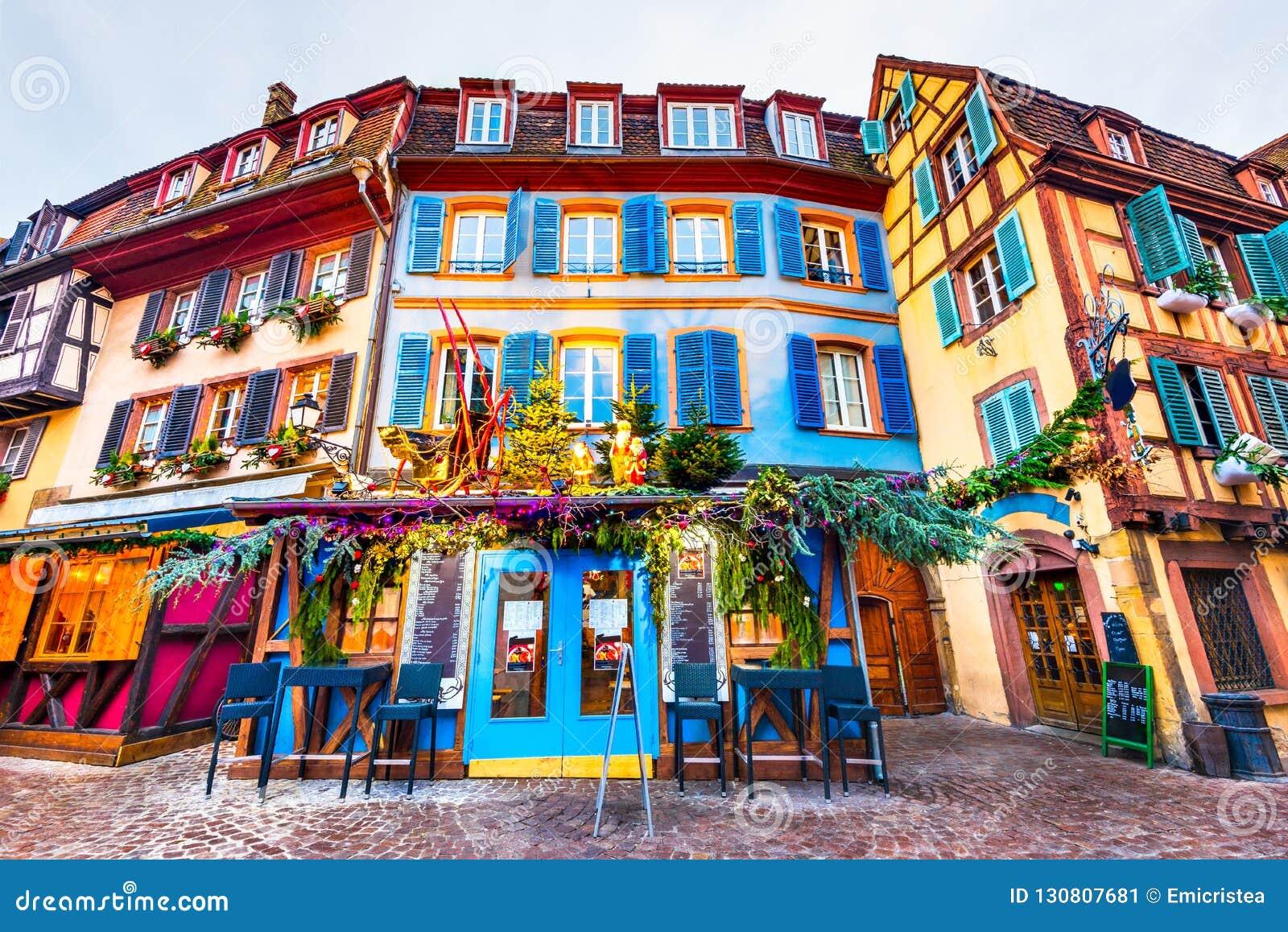 Colmar Christmas Market.Colmar Alsace France Little Venice Stock Image Image