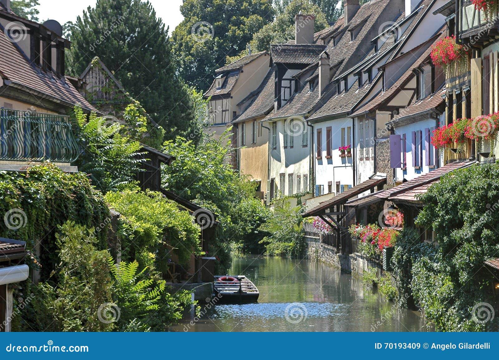 Colmar Alsace, Frankrike Litet Venedig område