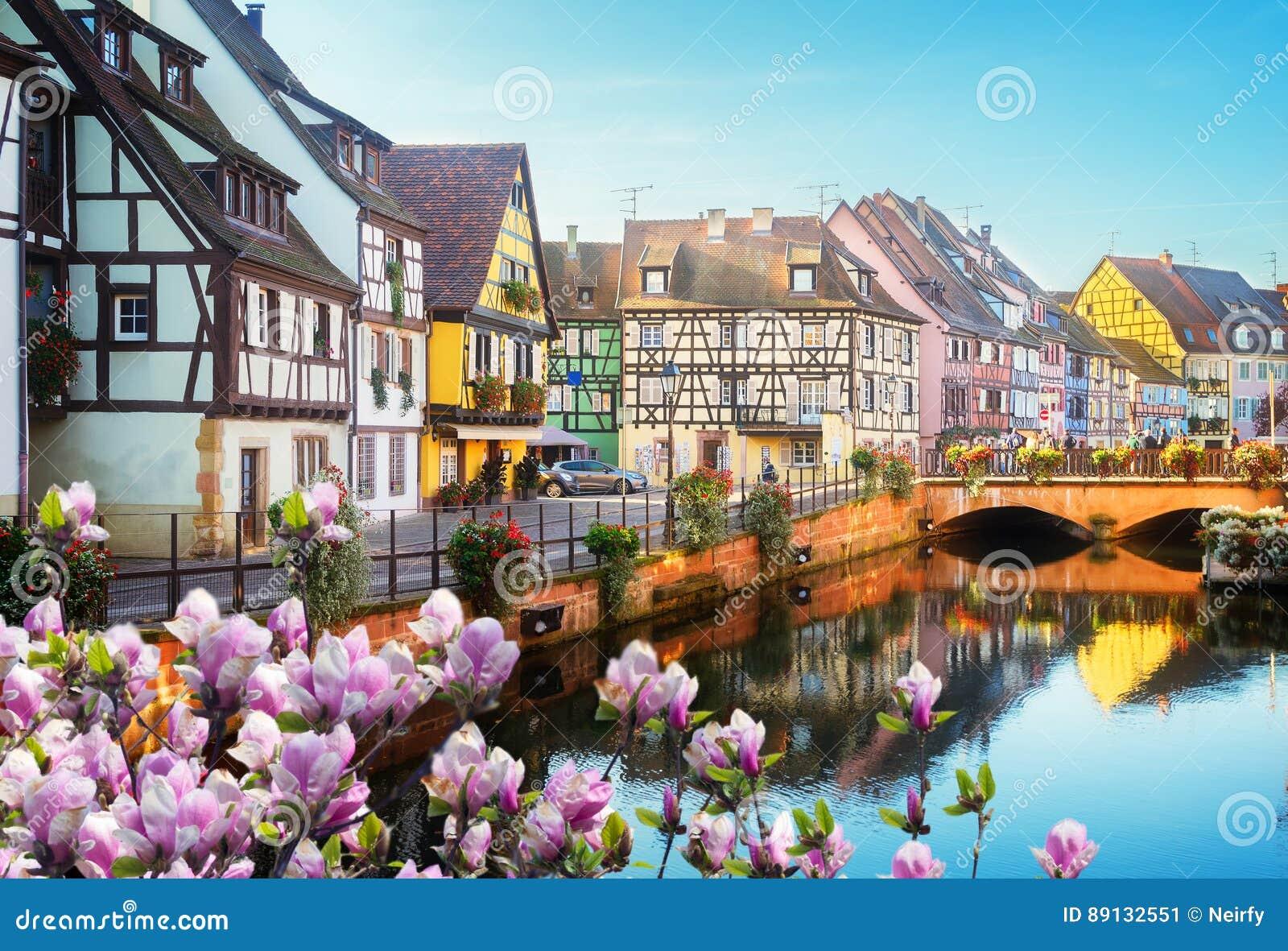Colmar, piękny miasteczko Alsace, Francja