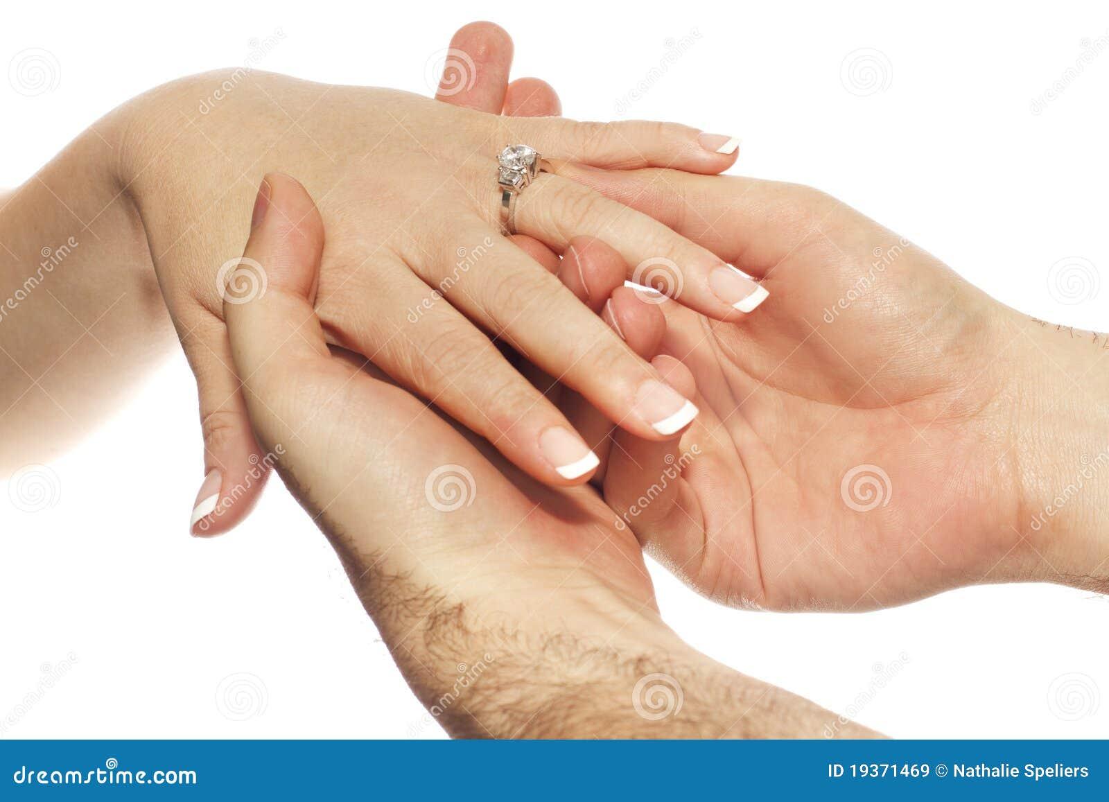 Colocação do anel de noivado