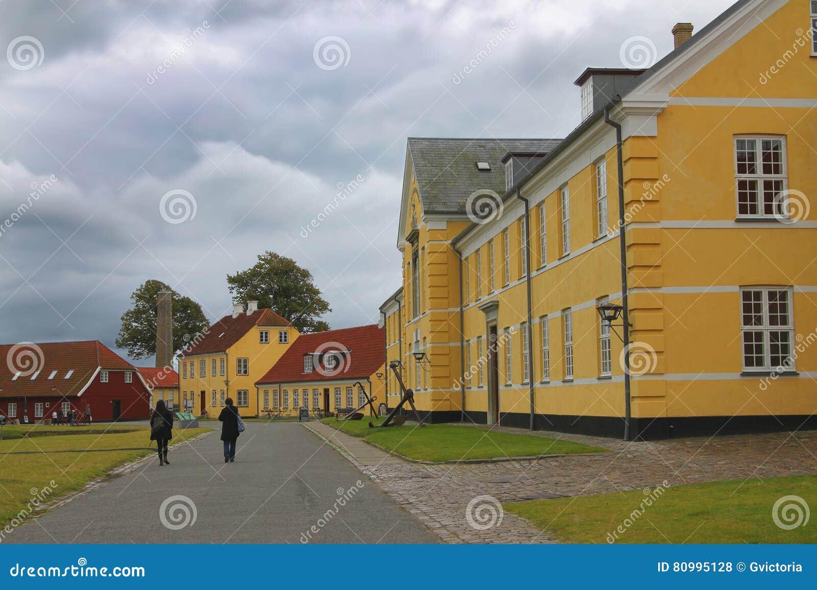 Coloful房子在哥本哈根,丹麦