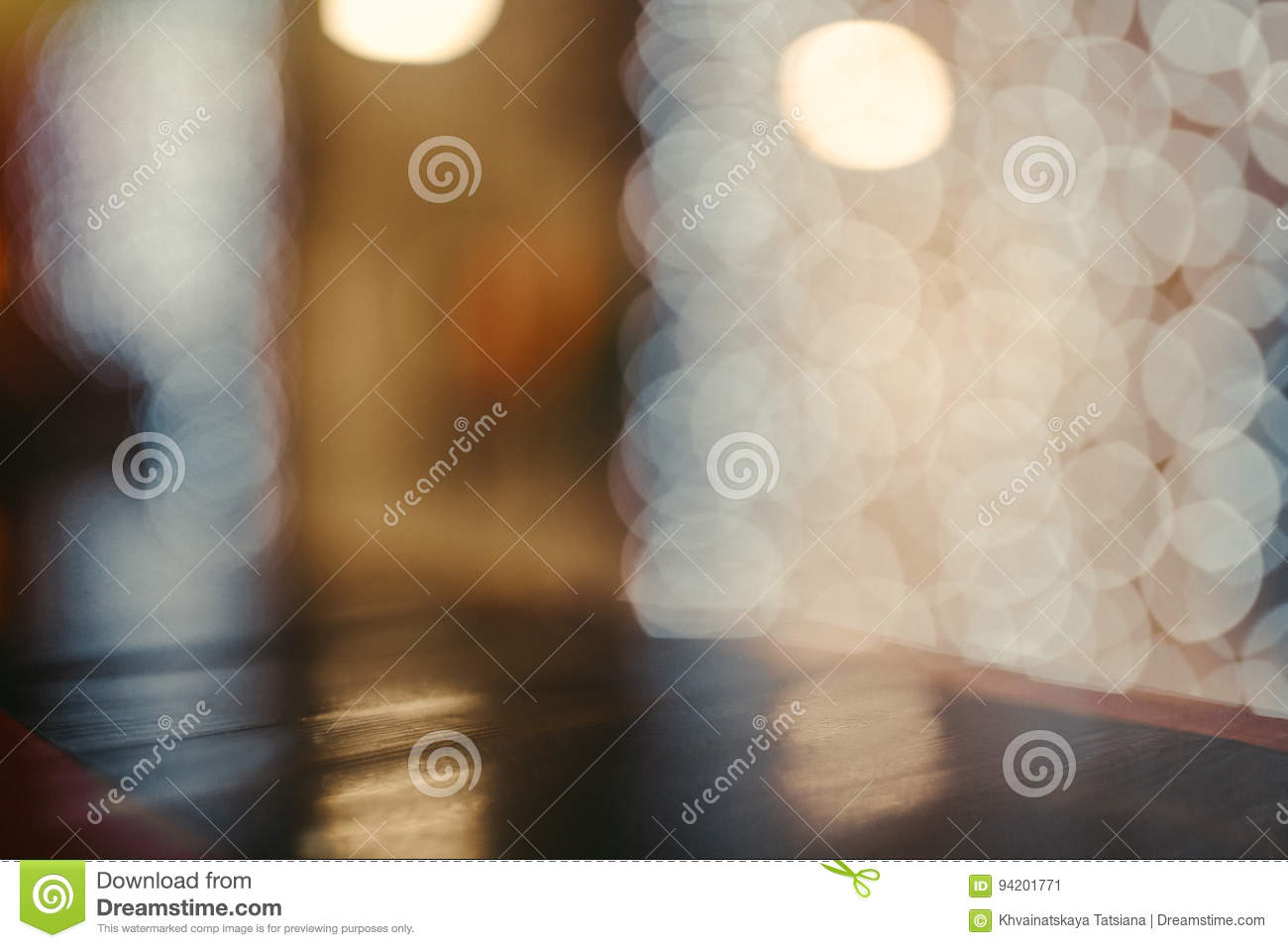 Coloful circle bokeh background. Defocused image. Blurred photo illustration. Copy space for design and text