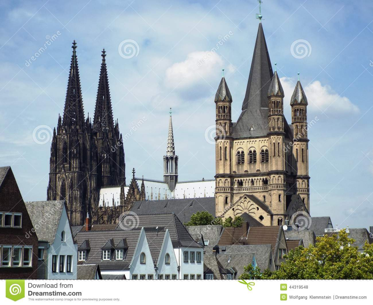 Cologne Cathedral and Gross St. Martin church