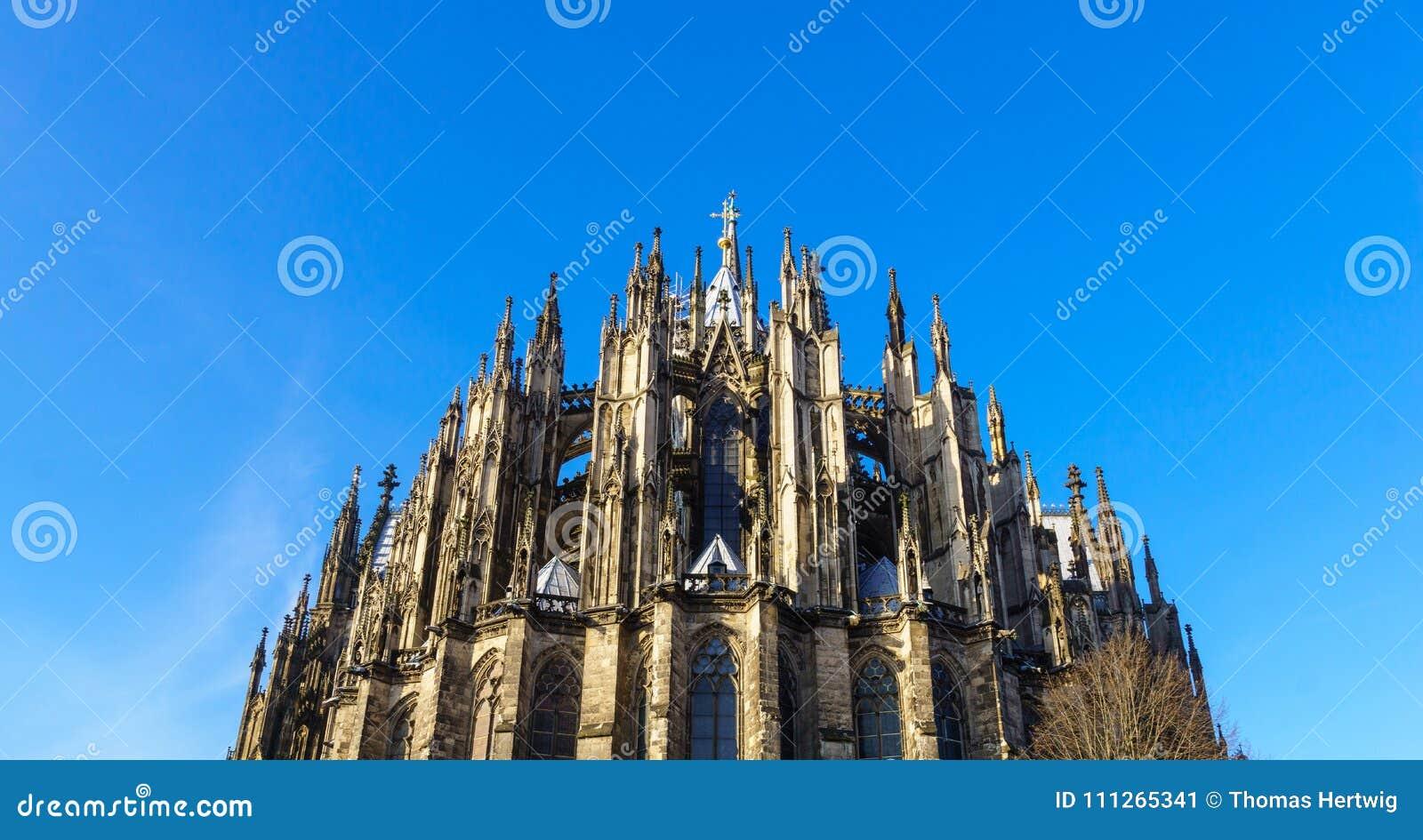 Cologne domkyrka, monument av tysk katolicism och gotisk arkitektur i Cologne, Tyskland