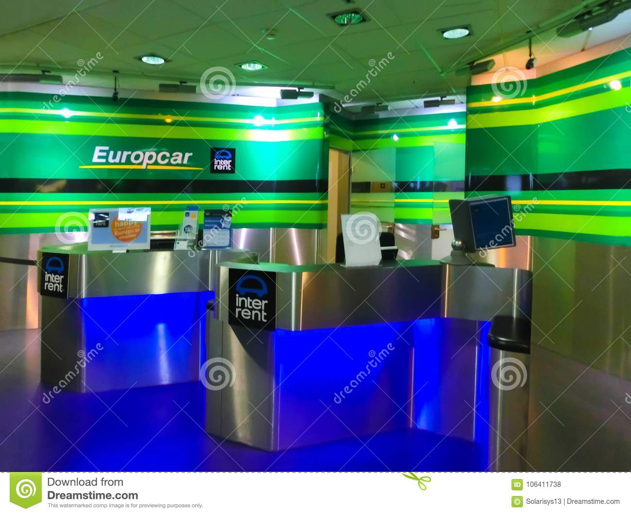 Cologne Germany December 12 2017 Europcar Car Rental Office At