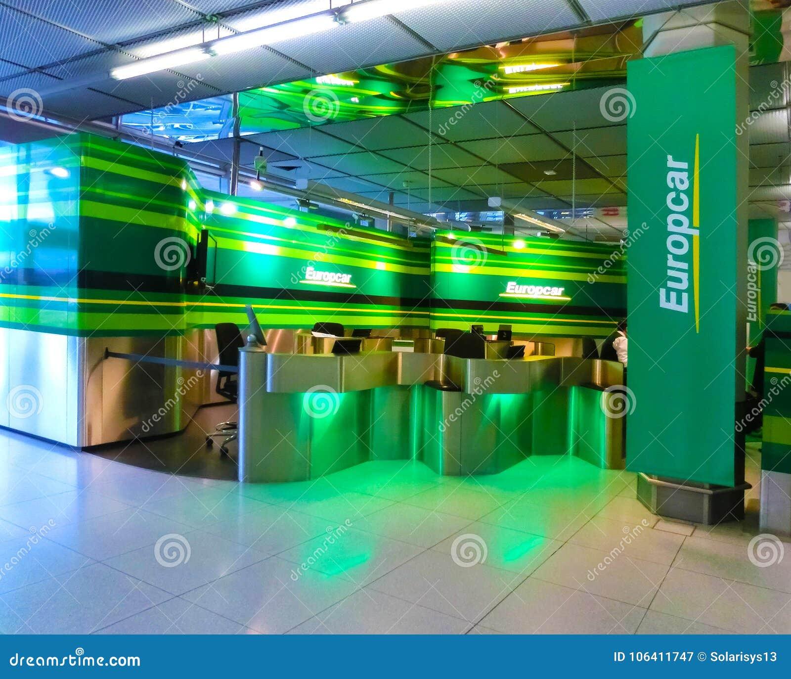 Cologne Germany December 12 2017 Europcar Car Rental Office At