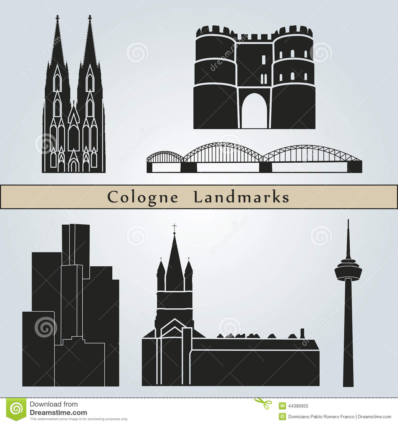 Cologne Landmarks Royalty Free Stock Photo