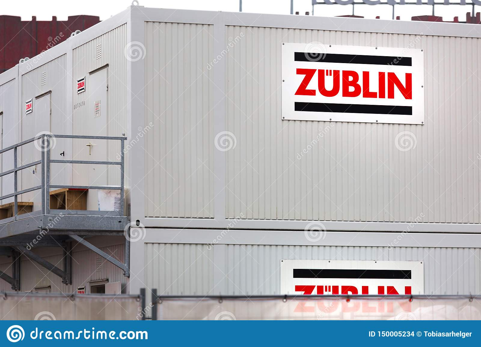 Züblin container sign in cologne germany