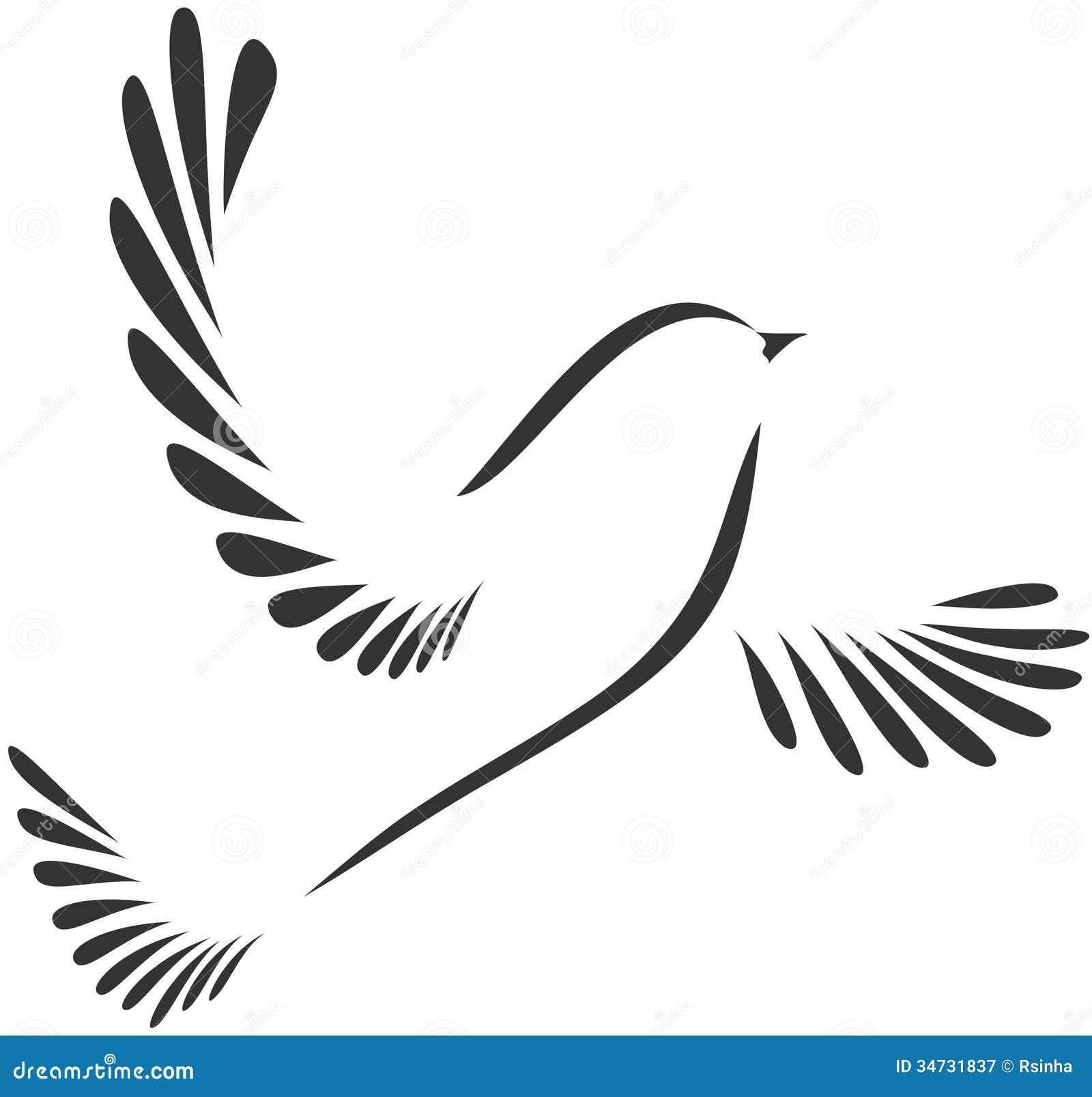 Colomba O Uccello Illustrazione Vettoriale Illustrazione Di