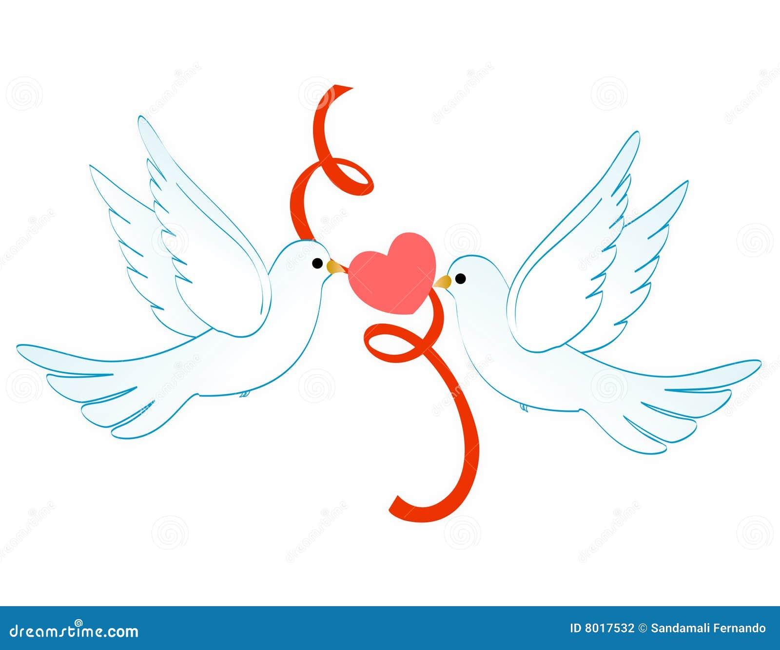 Colombes de l 39 amour illustration de vecteur illustration - Clipart amour ...