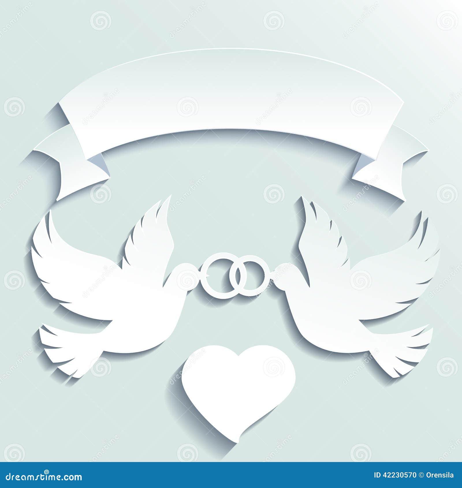 ... des anneaux de mariage Illustration de dessin animé de vecteur