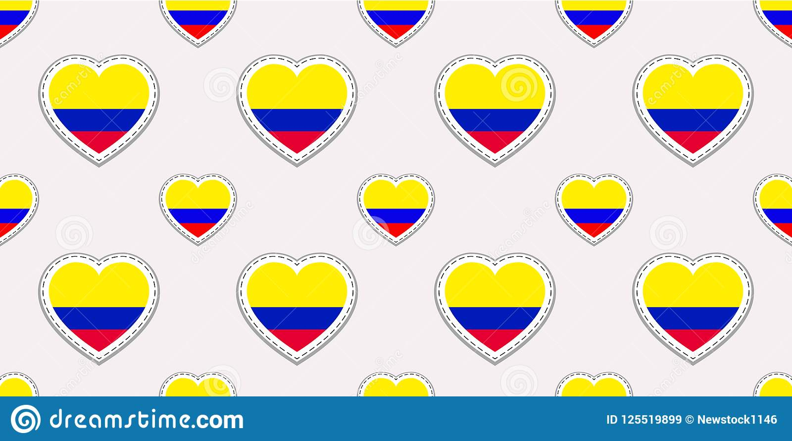 Colombia Background Colombian Flag Seamless Pattern Vector Stikers