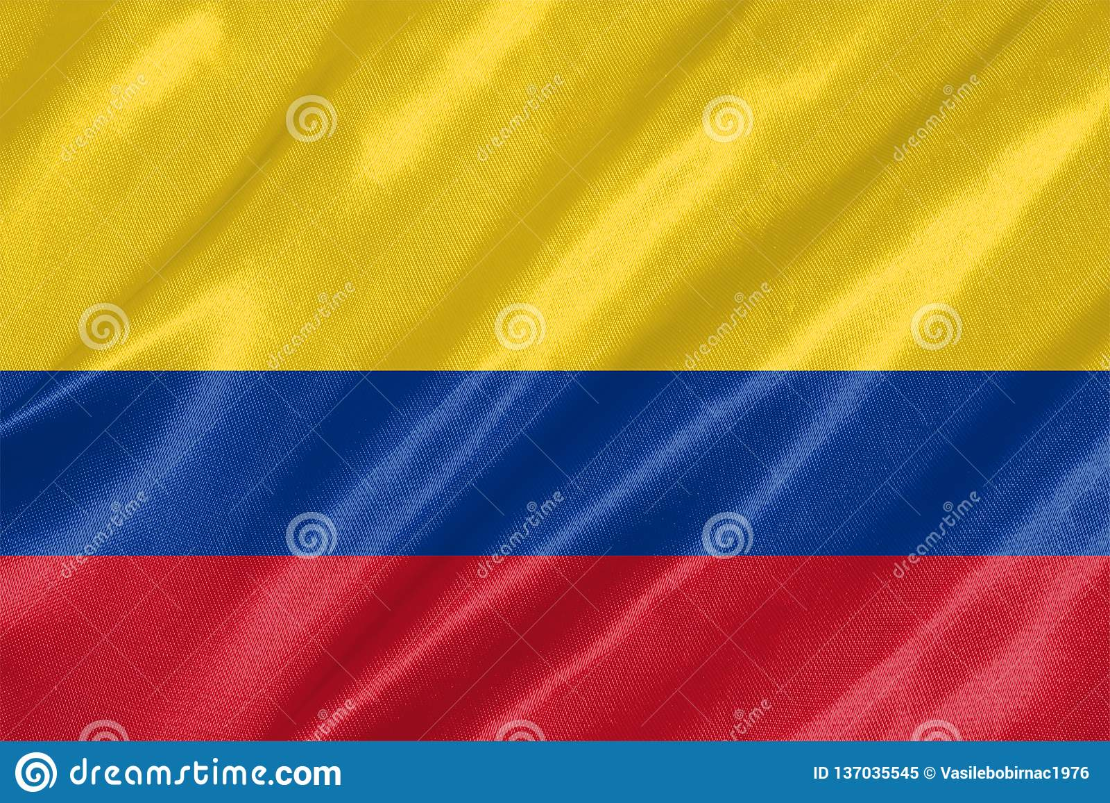Colombia flagga
