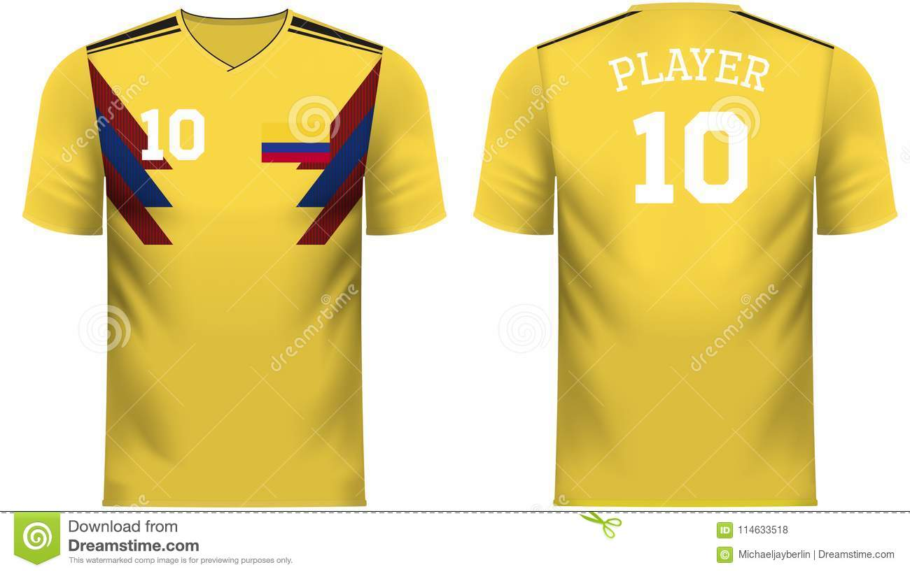 4ad005e02 Colombia Fan Sports Tee Shirt In Generic Country Colors Stock ...
