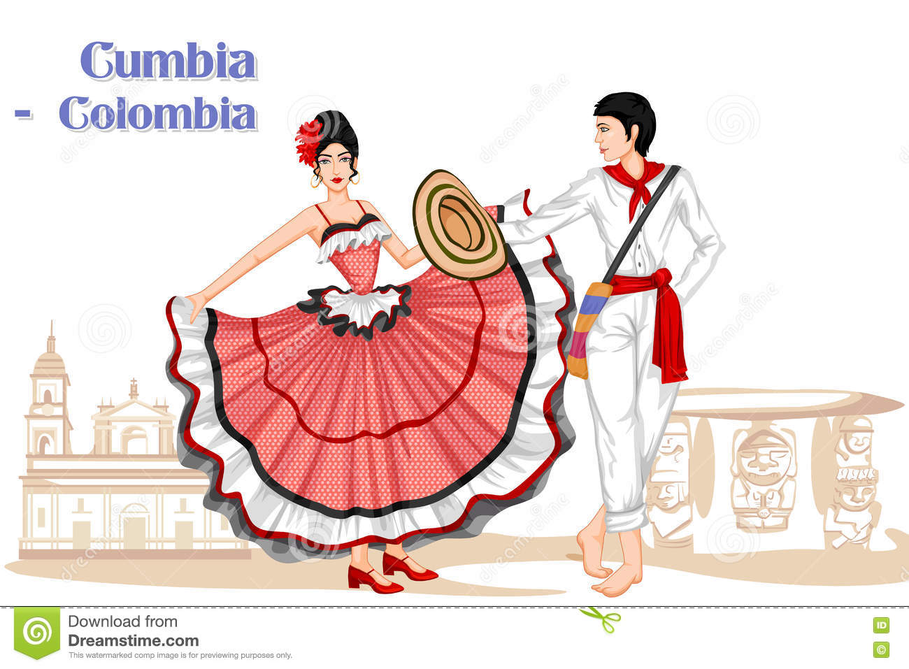 how to dance cumbia with a partner