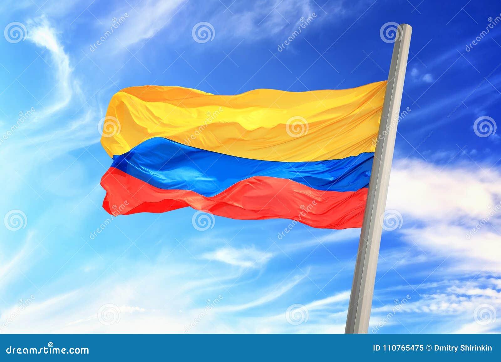 Colombian Flag Stock Image Image Of Symbolic Sign 110765475