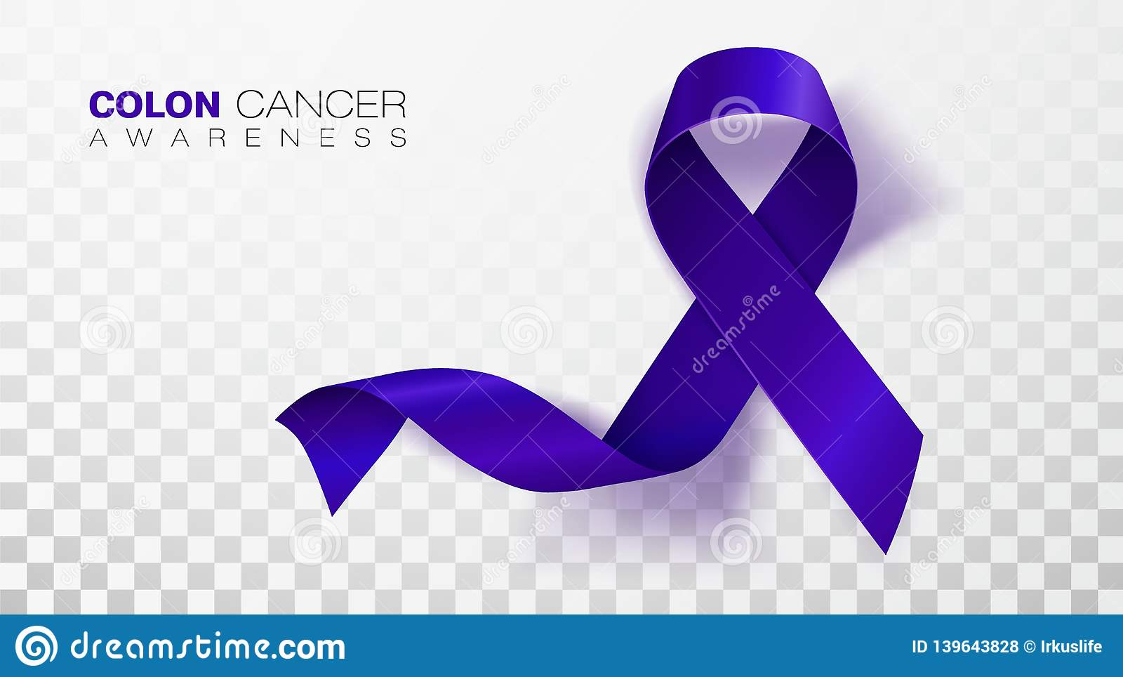 Colon Cancer Awareness Month Dark Blue Color Ribbon Isolated On Transparent Background Colorectal Cancer Vector Stock Vector Illustration Of Campaign Poster 139643828