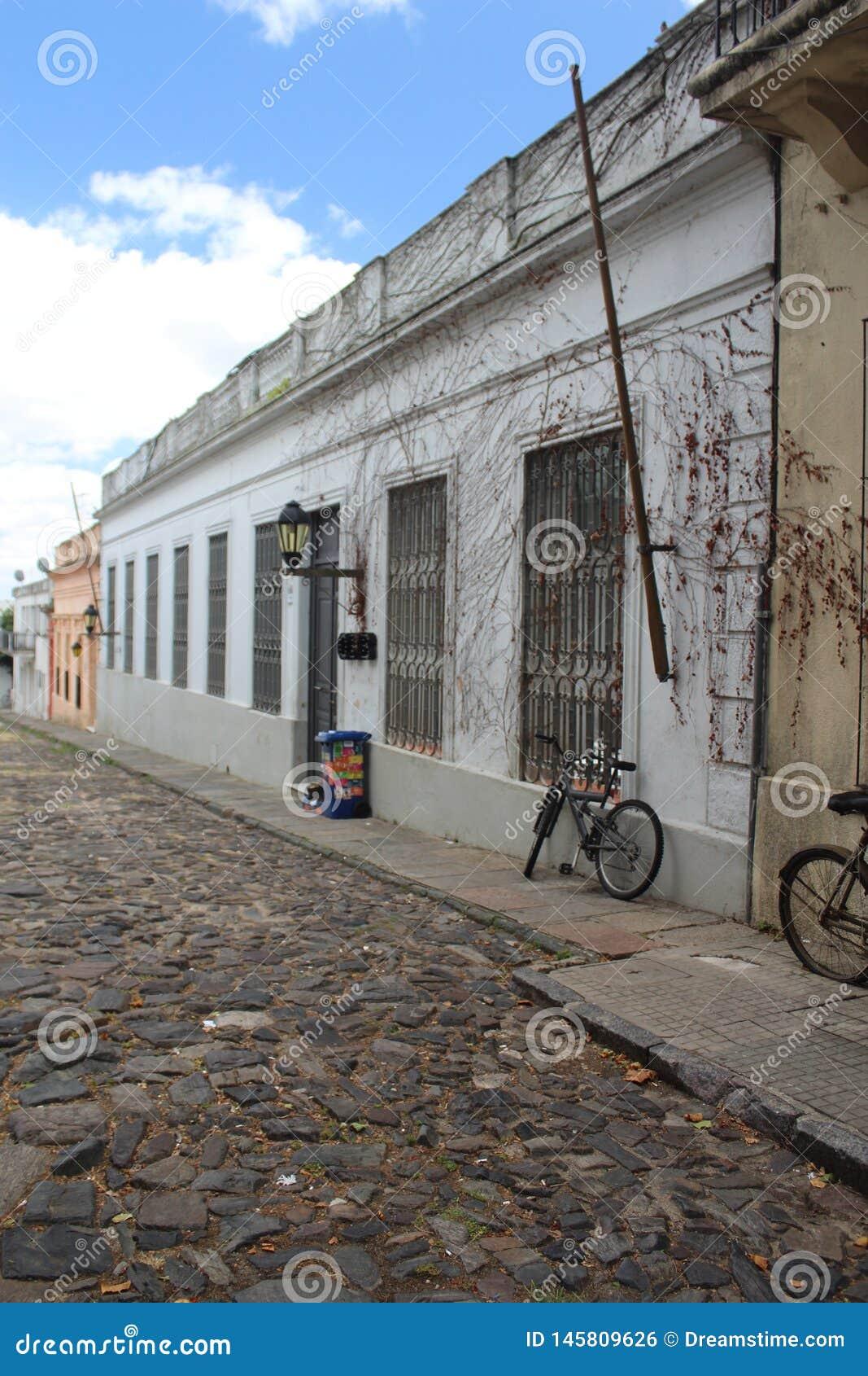 Colonia, alte Stra?e Uruguays