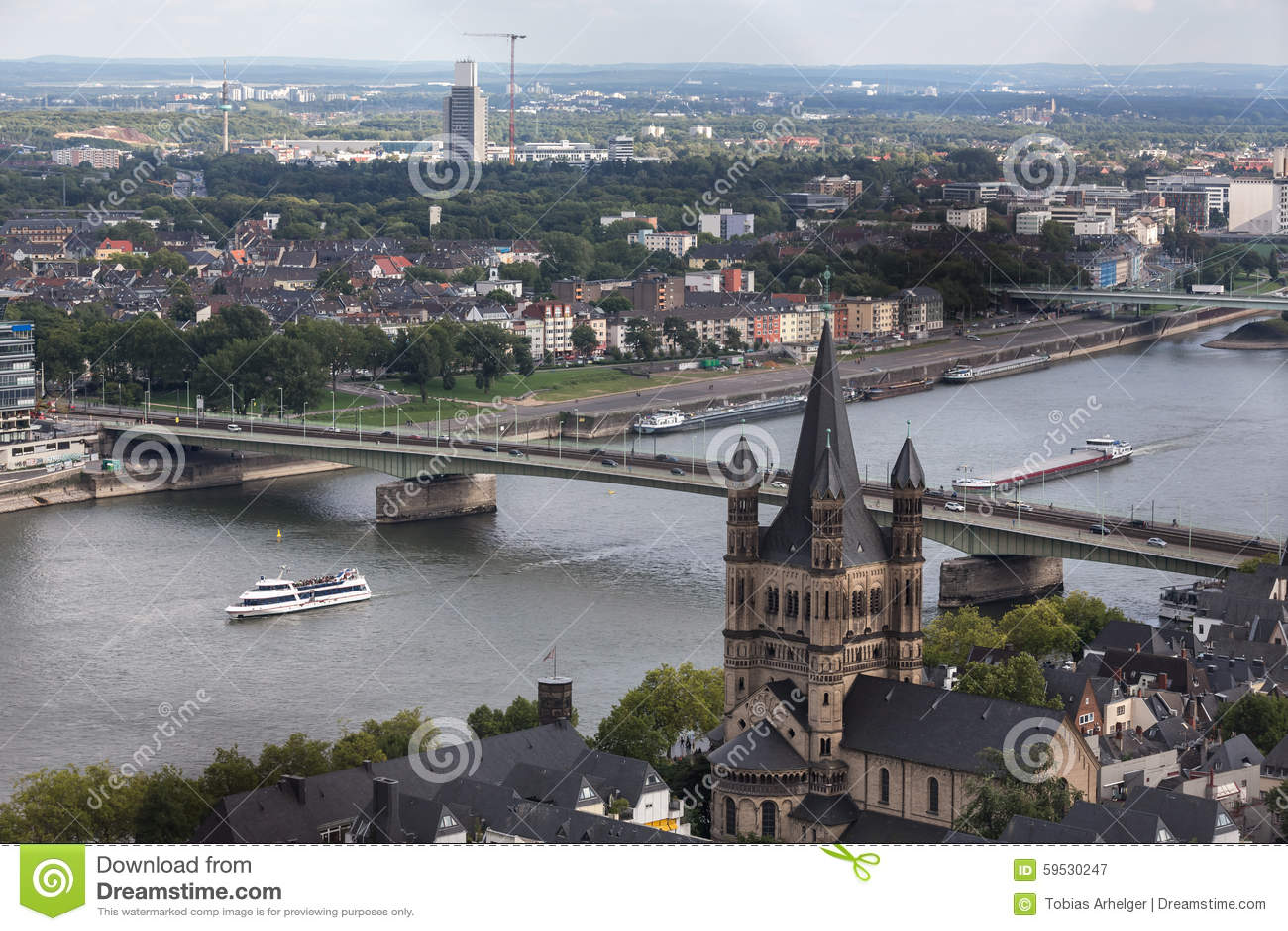 Colonia con una vista da sopra