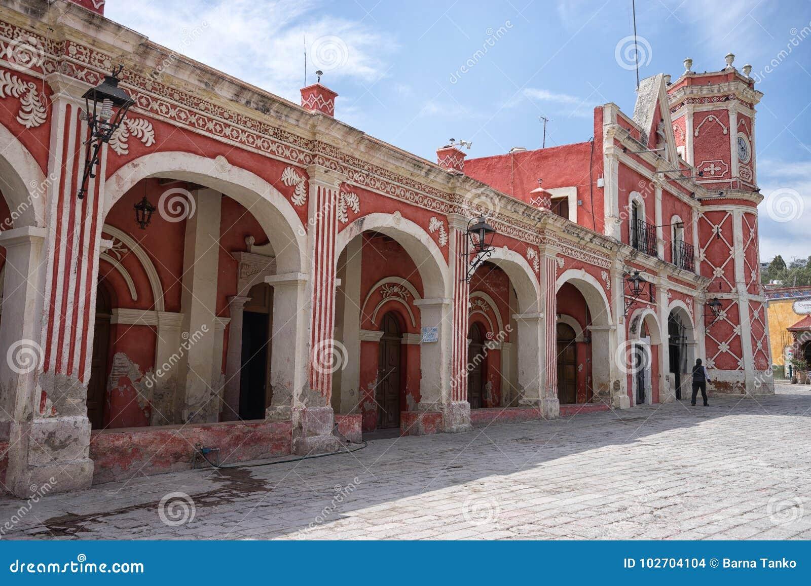 Colonial Architecture In Bernal Queretaro Mexico Editorial Stock