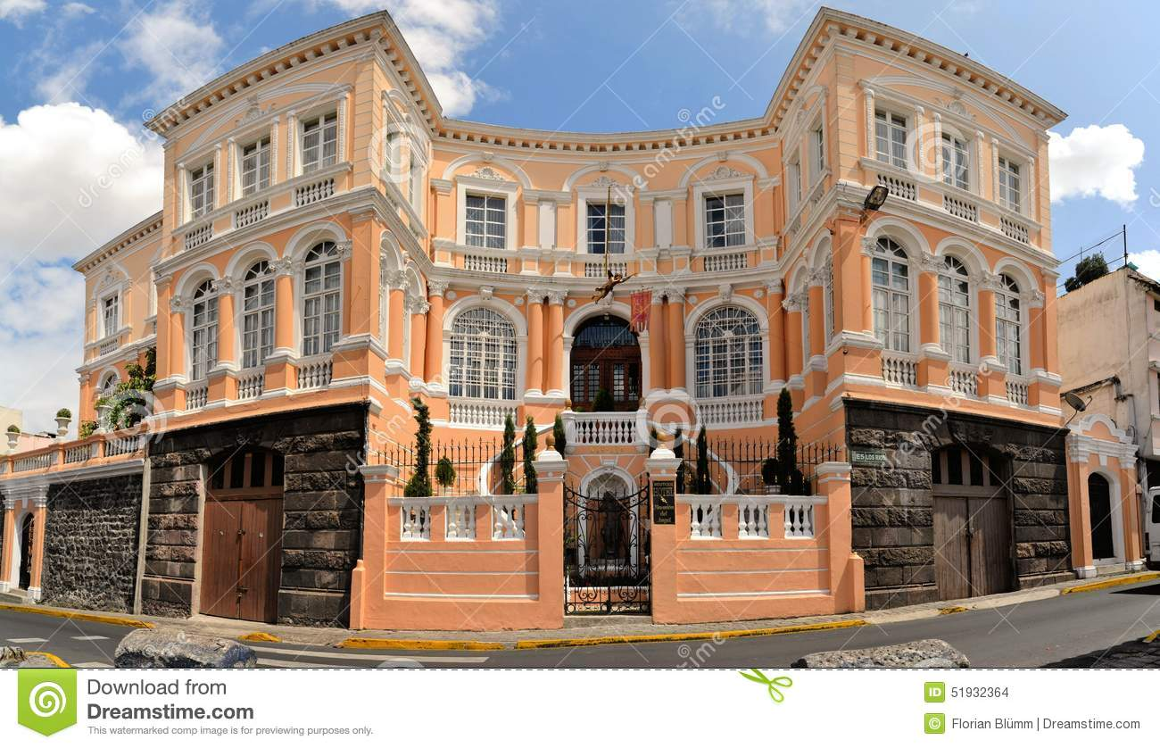 Colonial Architecture Detail Quito Capital Of Stock Photo Image