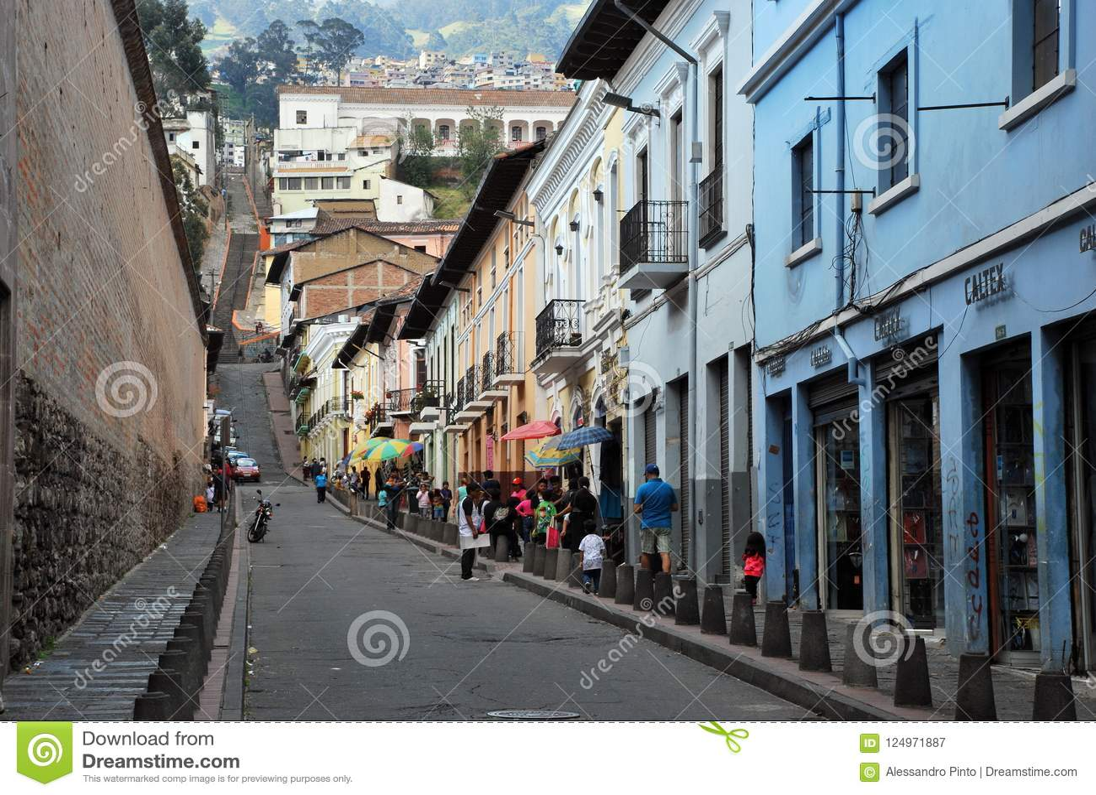 Colonial Architecture In Quito Ecuador Editorial Photography
