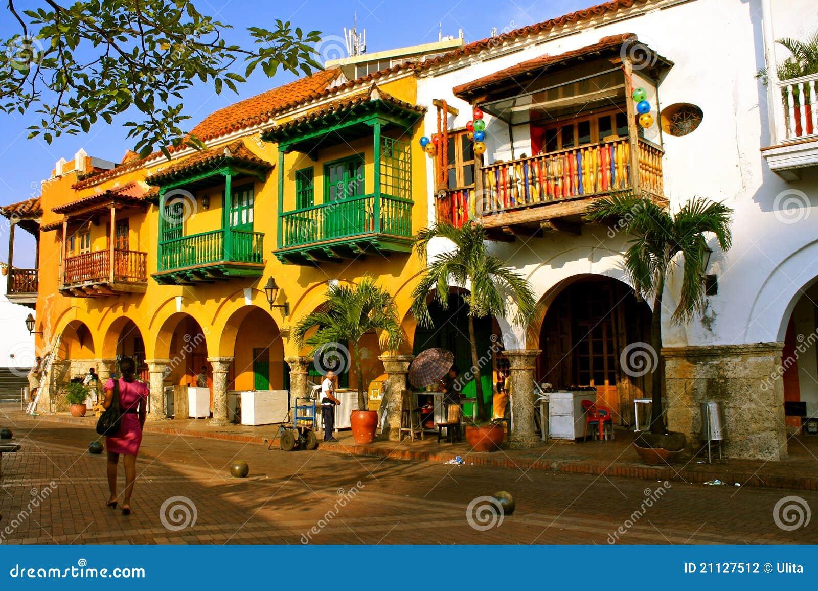 Download Colonial Buildings. Cartagena De Indias, Colombia Editorial Photography - Image of balconies, tropical: 21127512