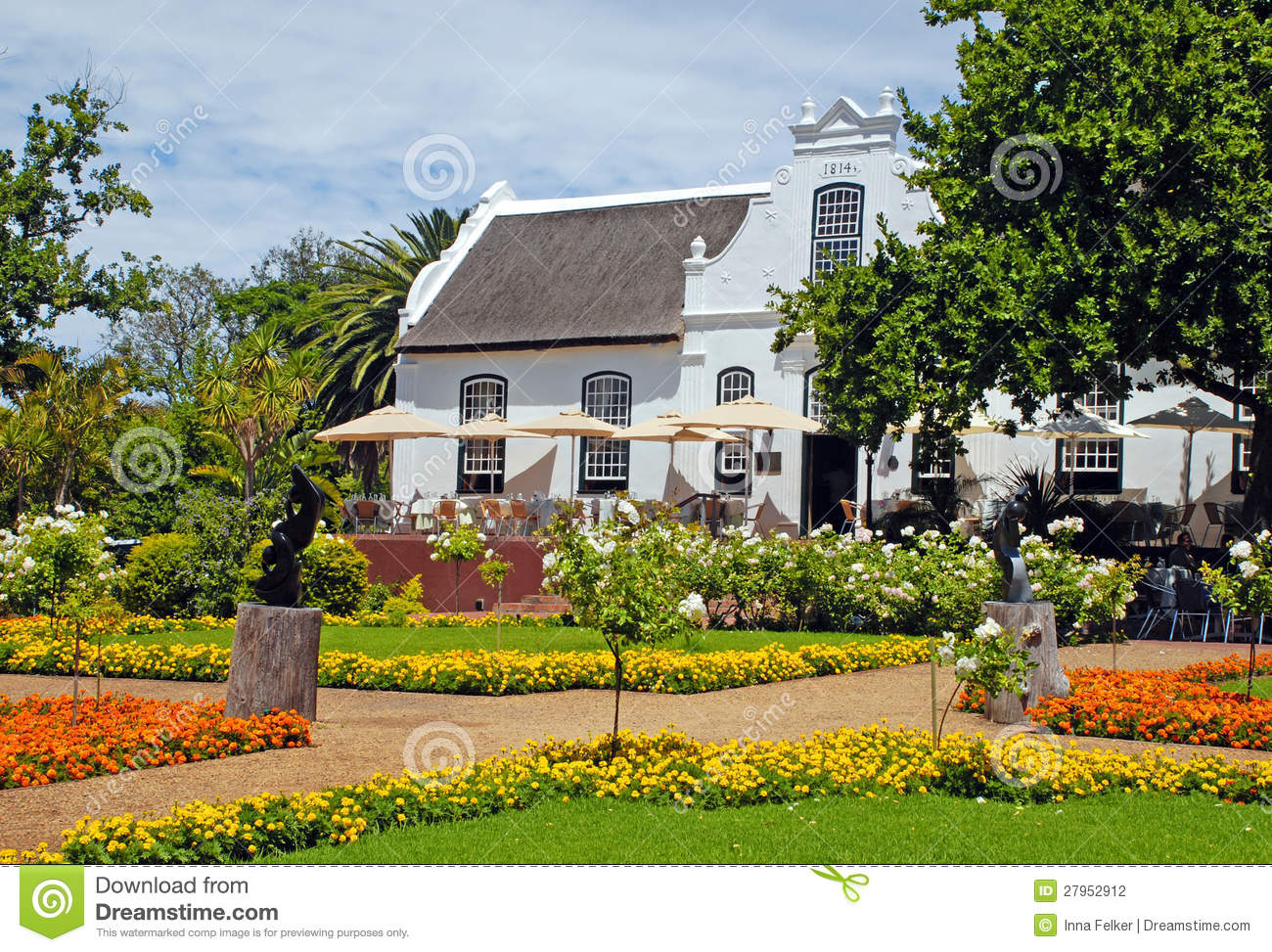 Stock Photography Colonial Farm House Flowers South Africa Image27952912 on Luxury Mansion Home Plans