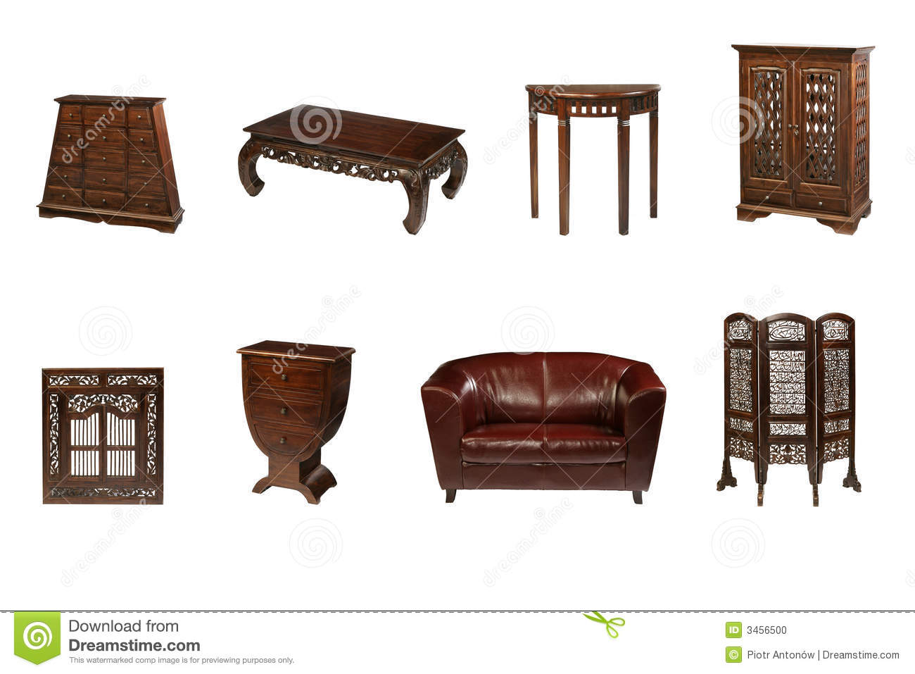 Colonial Furniture Stock Photo Image 3456500