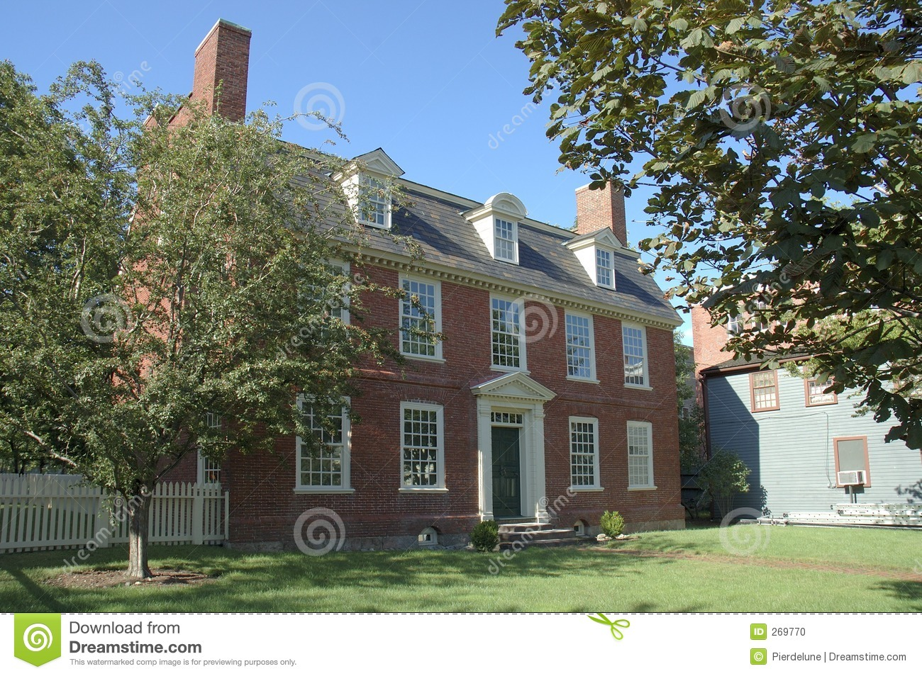 Colonial historic brick house stock photo image 269770 for Victorian colonial homes