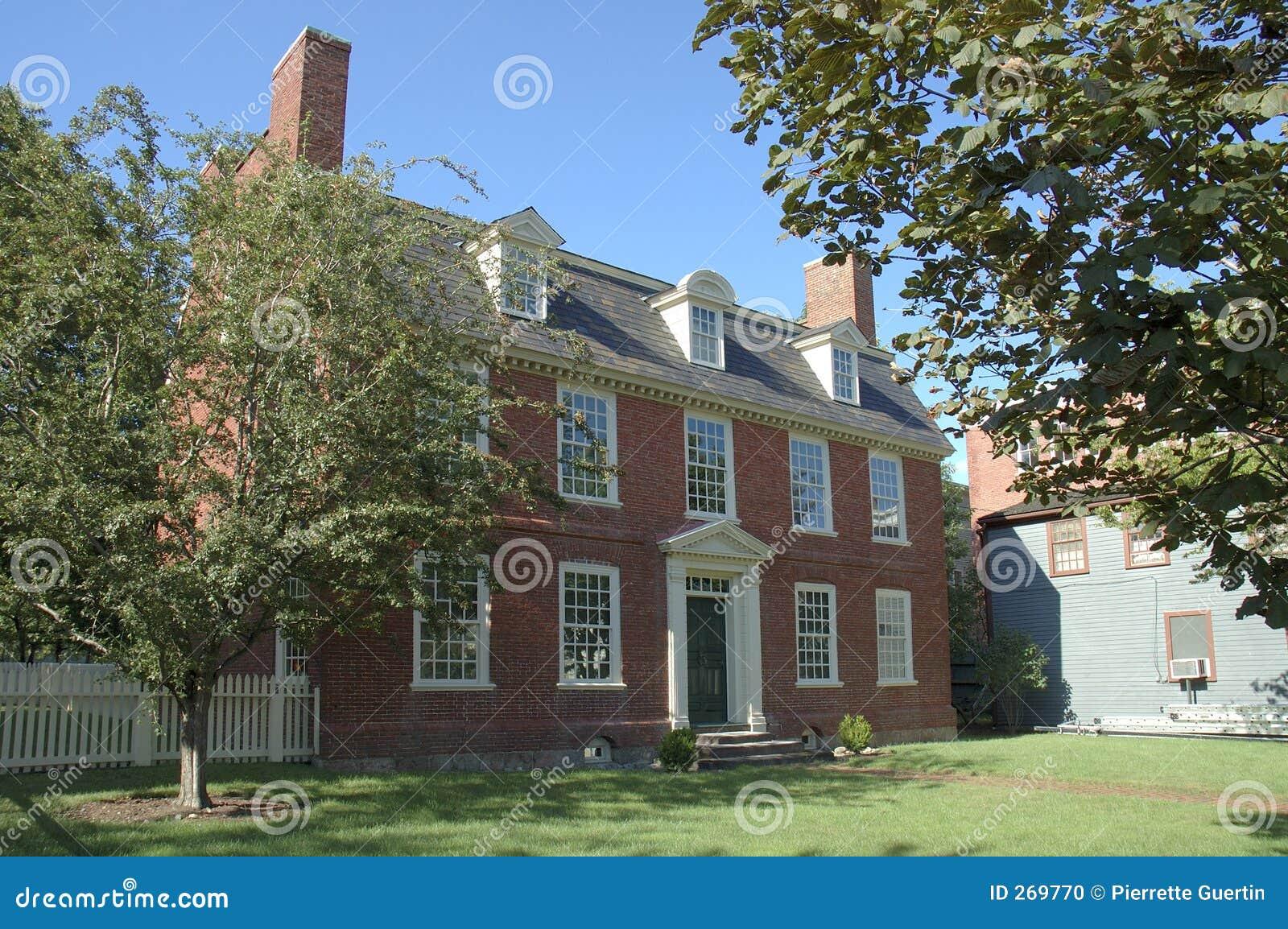 Colonial Historic Brick House Stock Photo Image 269770