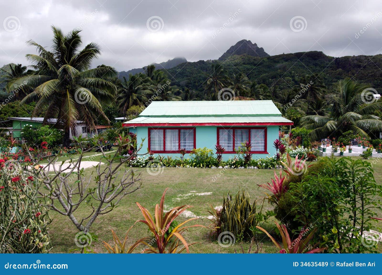 Colonial Home In Rarotonga Cook Islands Editorial Stock