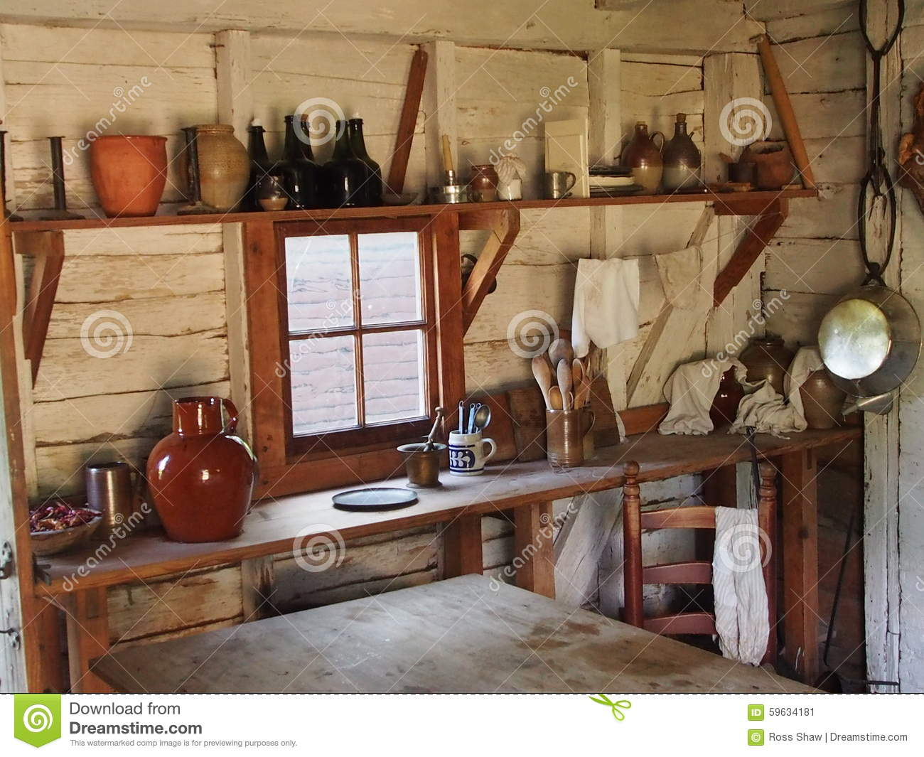 Colonial Kitchen Colonial Kitchen Stock Photo Image 59634181