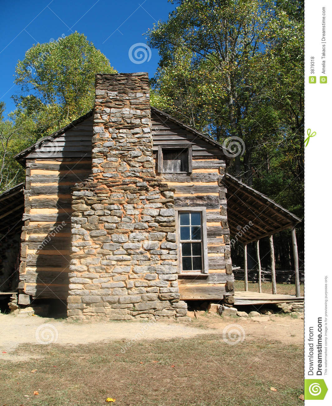 Colonial Log Cabin Stock Photo Image Of Home National