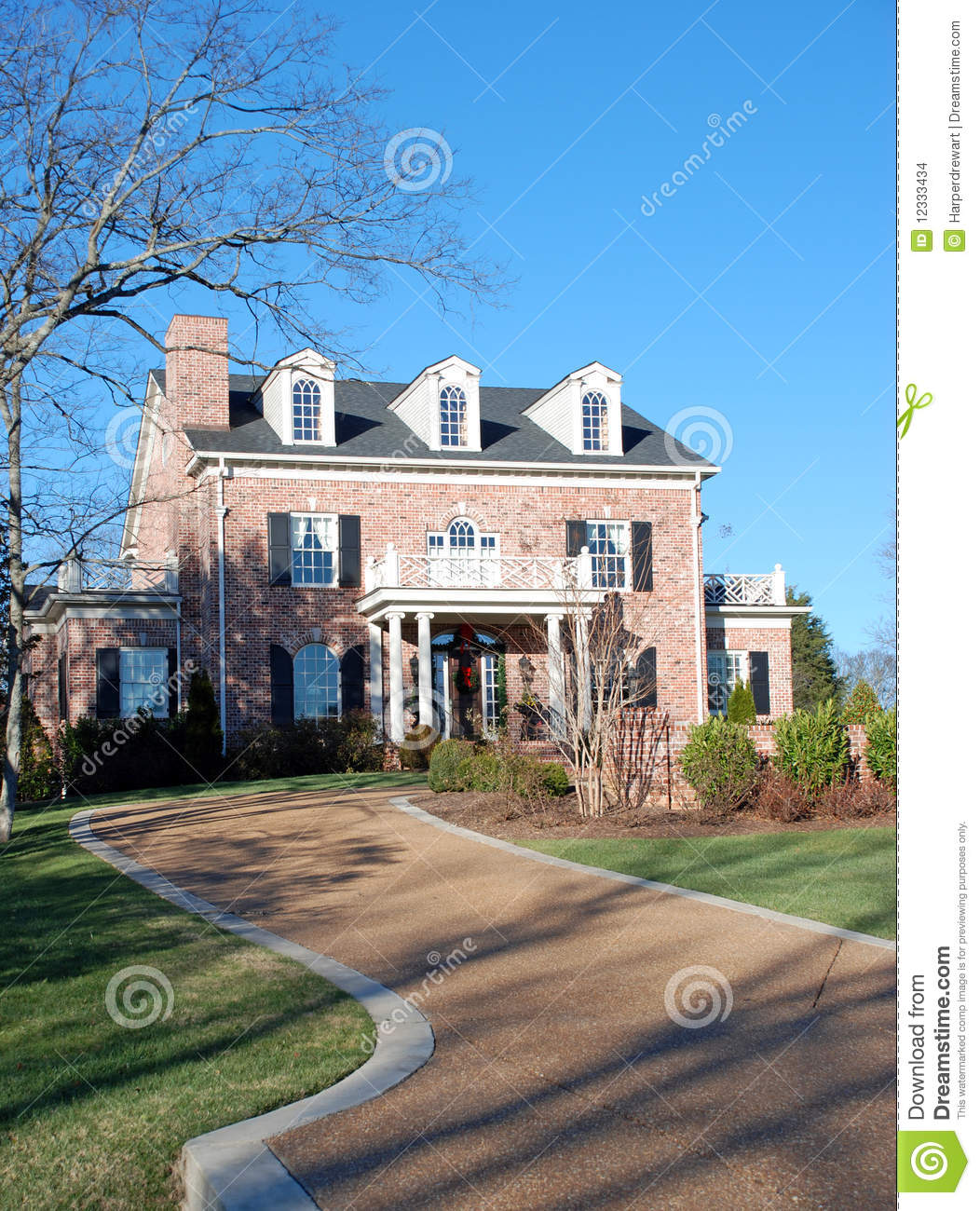 Luxury Brick Homes: Colonial Luxury Home 30 Stock Images