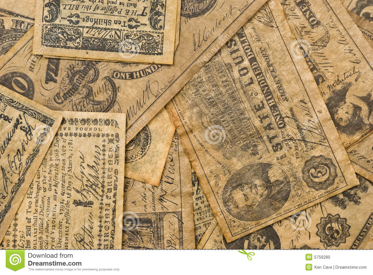 Colonial Money Stock Photo Image Of Paper Historic