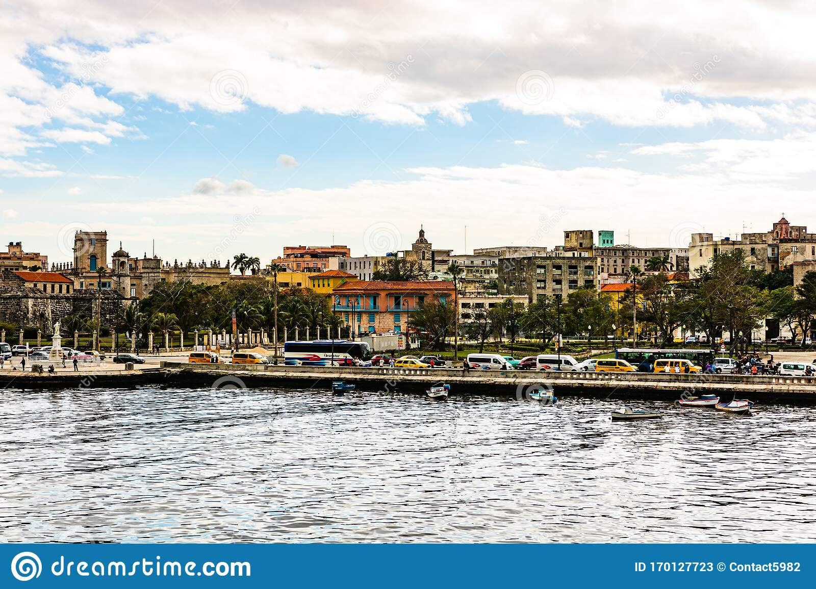 The Colonial Port Of Havana And View Over The City And ...