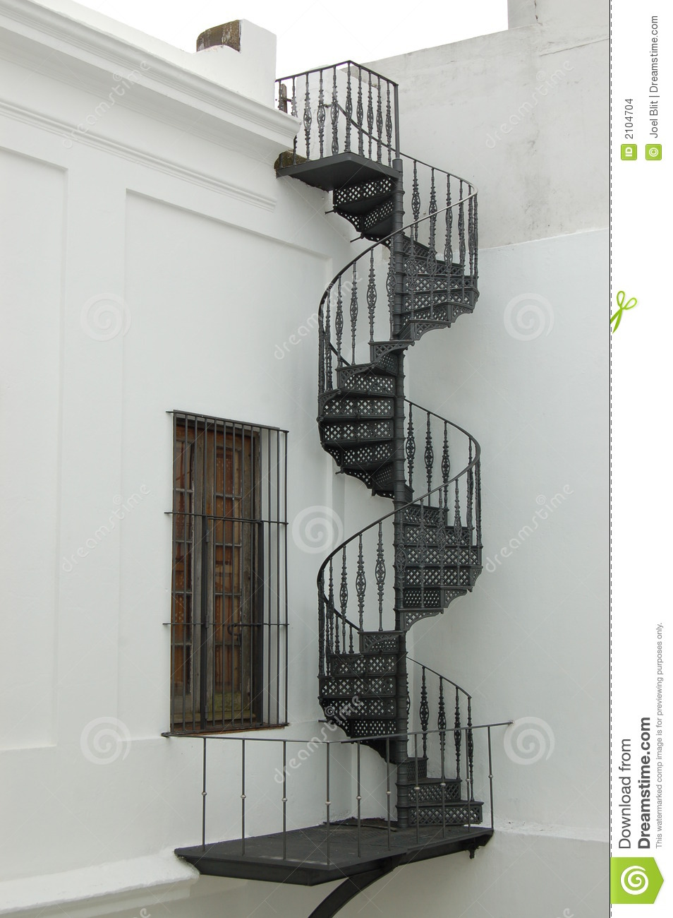 Colonial spiral staircase from nowhere to nowhere. El Cabildo ...