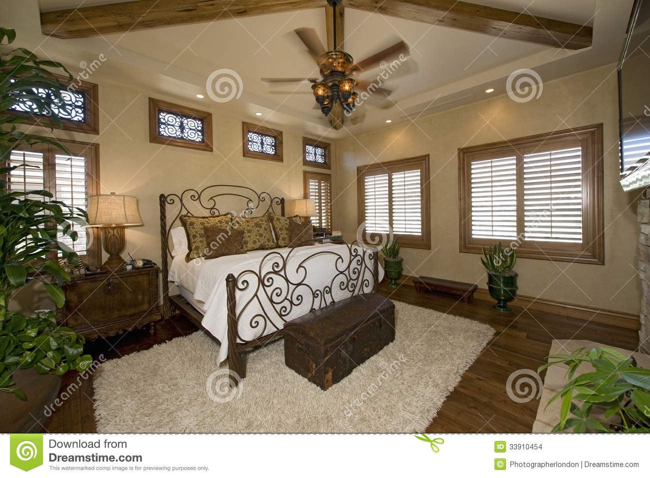 colonial style bedroom stock photo image of illuminated 33910454. Black Bedroom Furniture Sets. Home Design Ideas