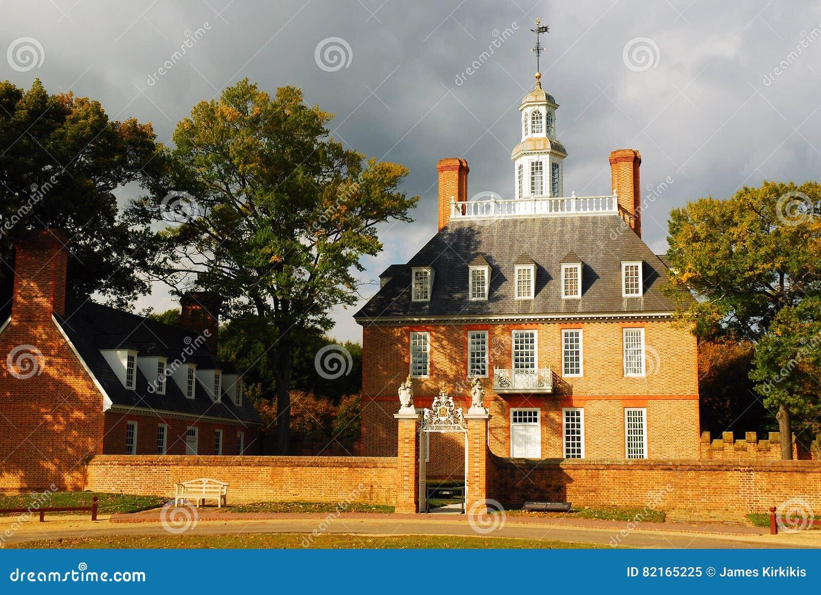 Colonial Williamsburg de palais des Gouverneurs