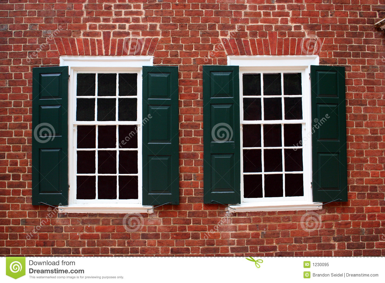 Colonial Windows Royalty Free Stock Photo Image 1230095