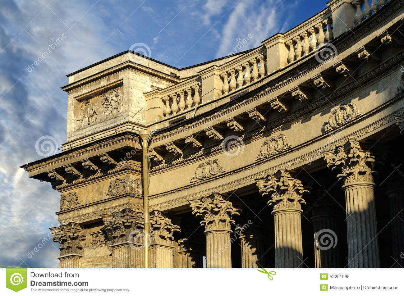 Download Colonnade Of The Kazan Cathedral Stock Photo - Image of mother, columns: 52201996