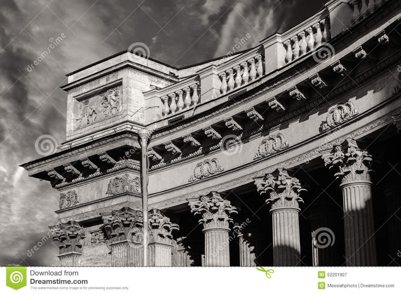 Download Colonnade Of The Kazan Cathedral Stock Image - Image of architecture, building: 52201907