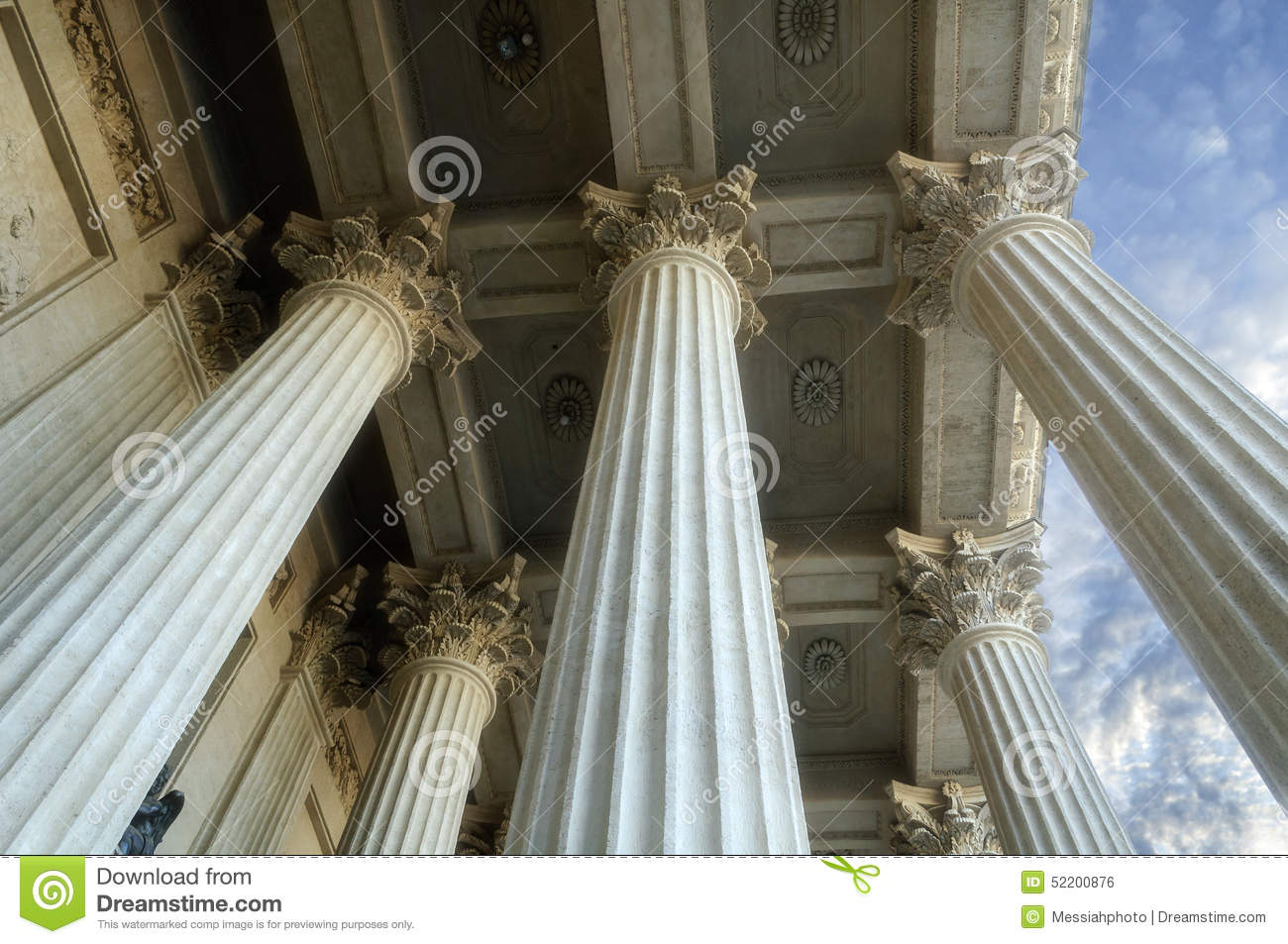 Download Colonnade Of The Kazan Cathedral Stock Photo - Image of decoration, mother: 52200876