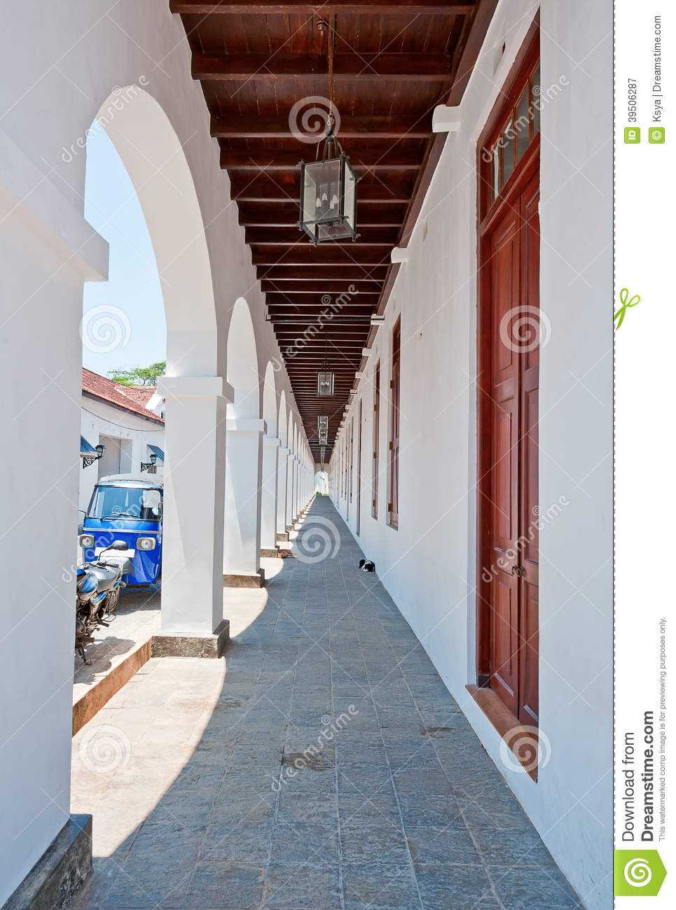 The colonnaded archway in Galle, Sri Lanka