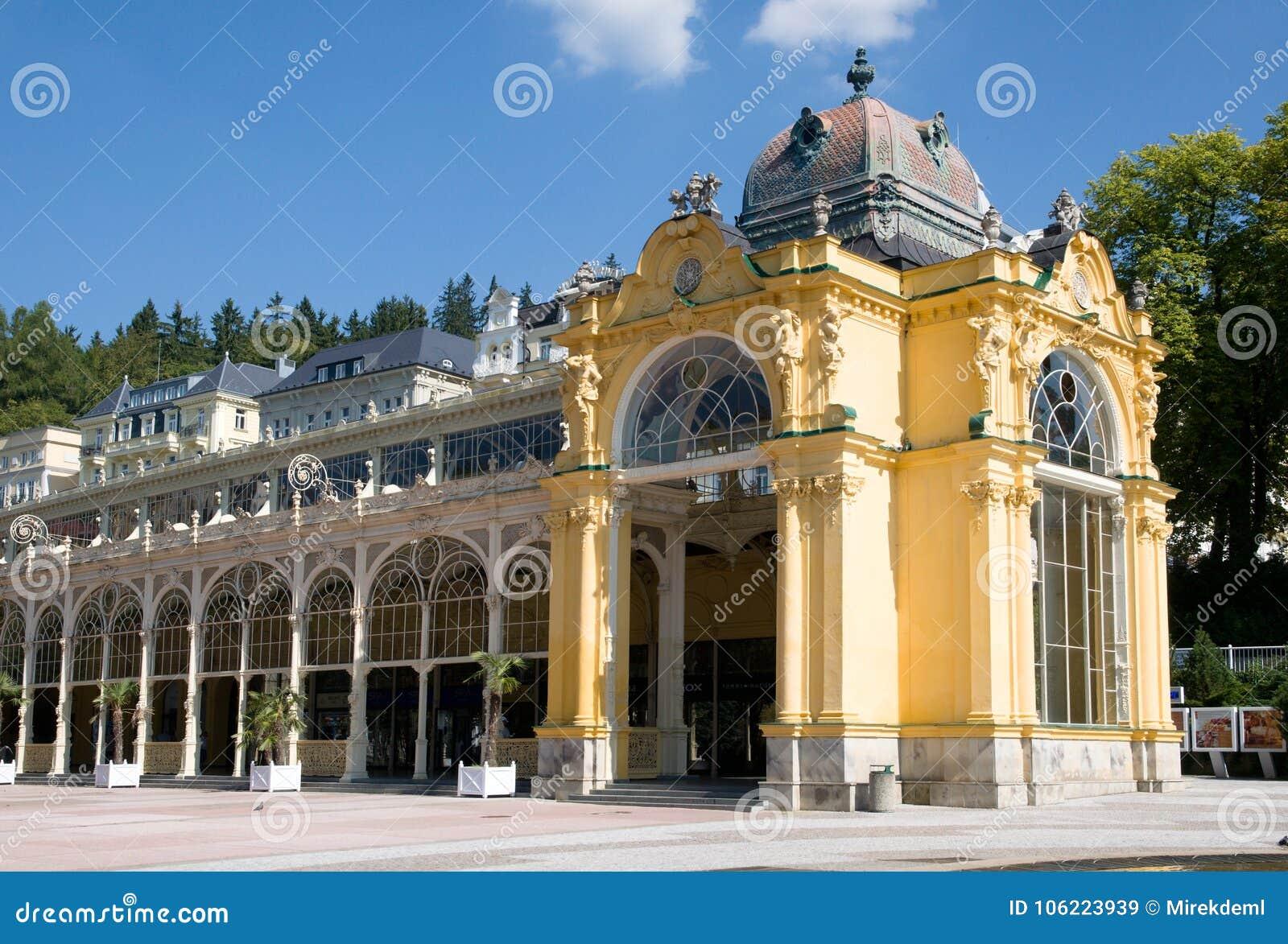 Colonnato in Marianske Lazne, Boemia occidentale, repubblica Ceca
