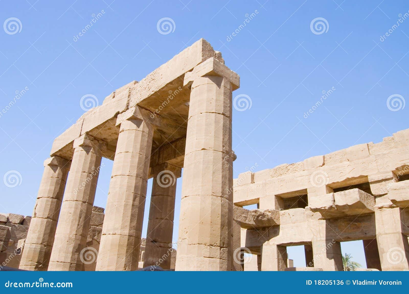 Colonne al tempiale di Karnak, Luxor, Egitto