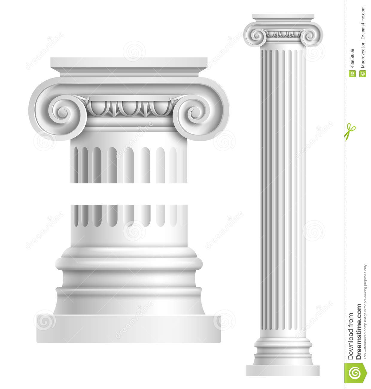 Marble Temple Home Decoration Colonne Antique Blanche R 233 Aliste Illustration De Vecteur